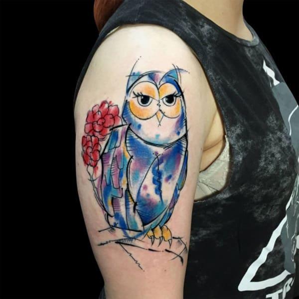 Beautiful Owl Tattoo (43)