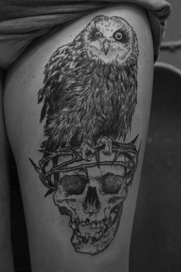 Beautiful Owl Tattoo (45)