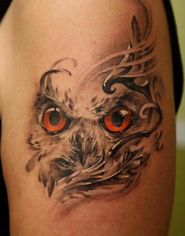 Beautiful Owl Tattoo (5)