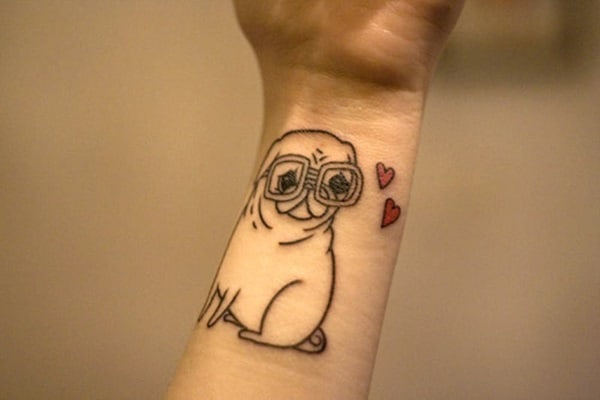 40 Pug Tattoo Pictures 11