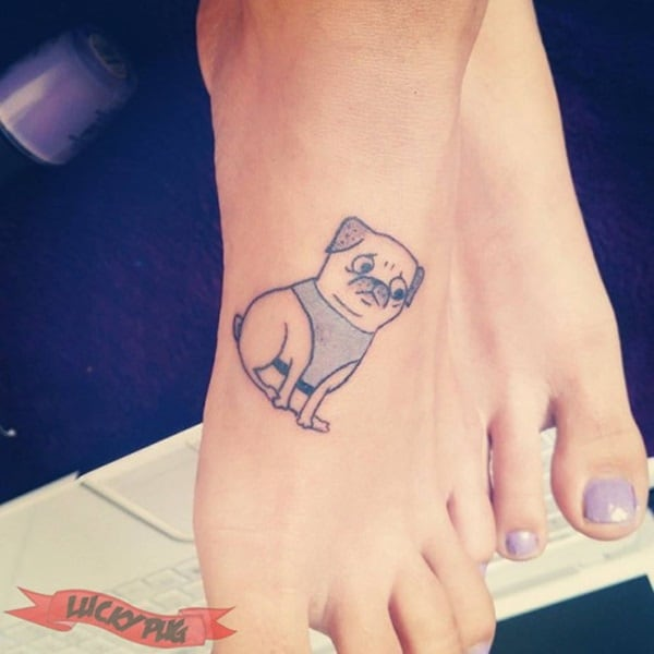 40 Pug Tattoo Pictures 15