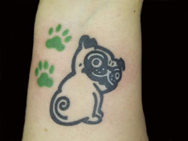 40 Pug Tattoo Pictures 17