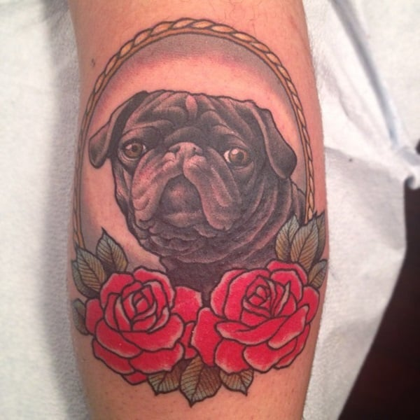 40 Pug Tattoo Pictures 22