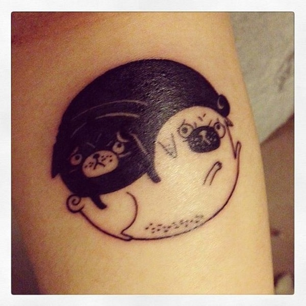 40 Pug Tattoo Pictures 24