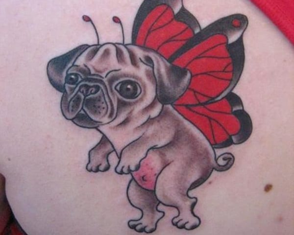 40 Pug Tattoo Pictures 26