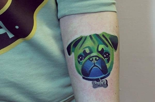 40 Pug Tattoo Pictures 27