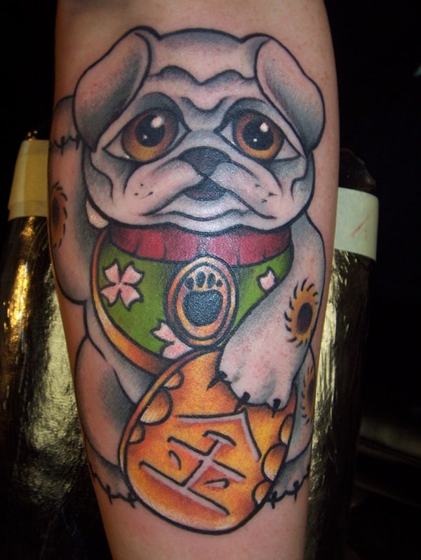 40 Pug Tattoo Pictures 33