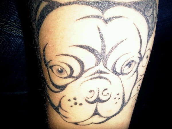 40 Pug Tattoo Pictures 34