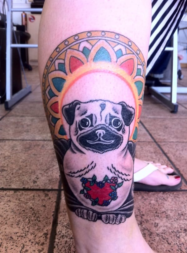 40 Pug Tattoo Pictures 35