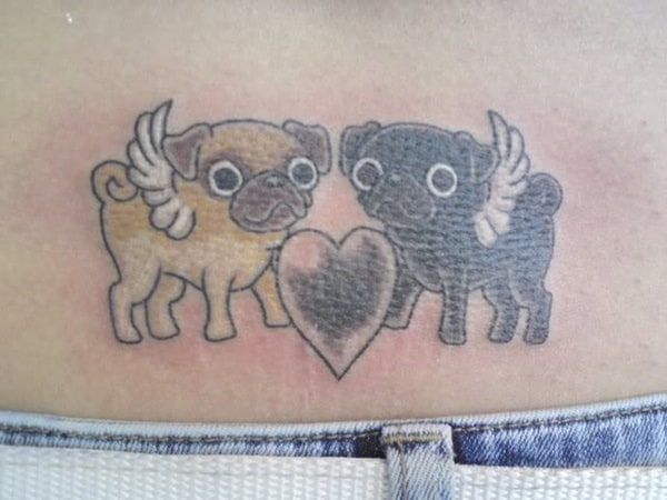 40 Pug Tattoo Pictures 38