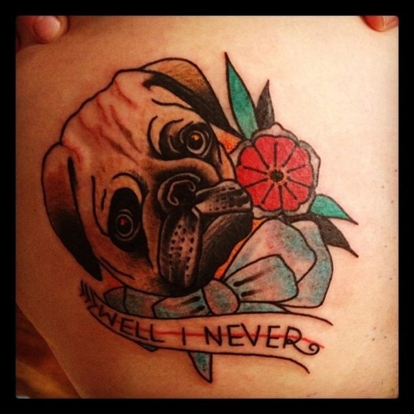 40 Pug Tattoo Pictures 39