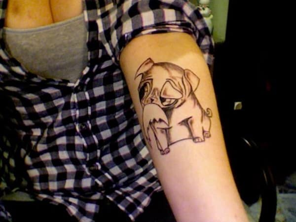 40 Pug Tattoo Pictures 4