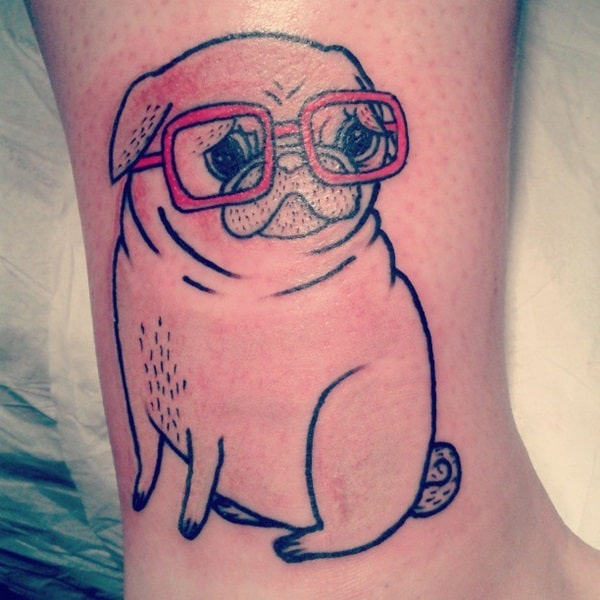 40 Pug Tattoo Pictures 5