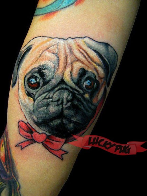 40 Pug Tattoo Pictures 6