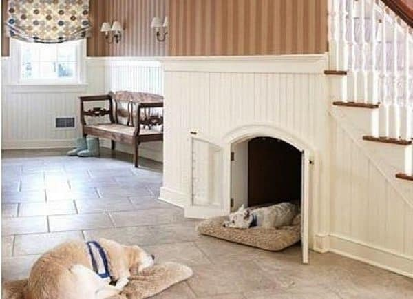 25 great ideas of dog house under staircase tail and fur. Black Bedroom Furniture Sets. Home Design Ideas