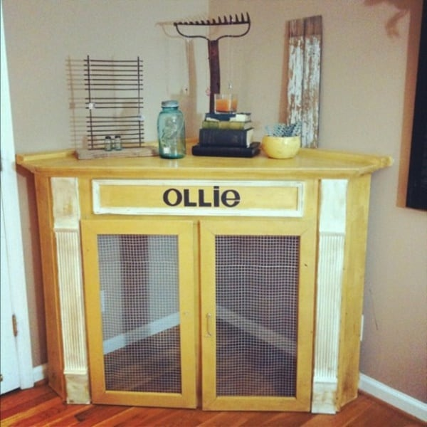 40 Comfy Large Dog Crate Ideas 1