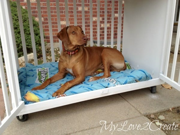40 Comfy Large Dog Crate Ideas 25