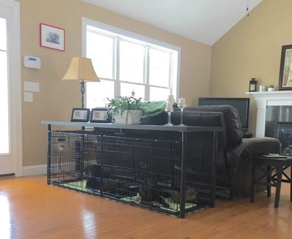 40 Comfy Large Dog Crate Ideas 26