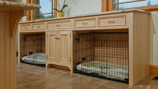 40 Comfy Large Dog Crate Ideas 3