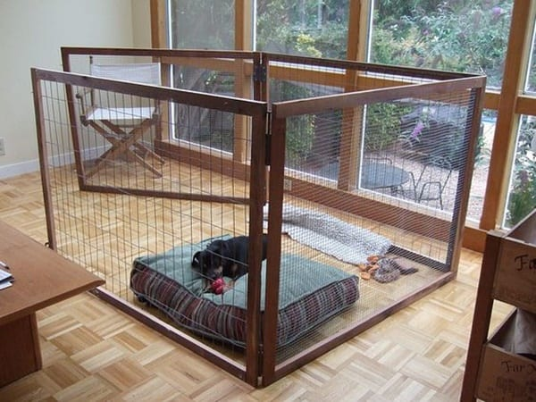 40 Comfy Large Dog Crate Ideas 31