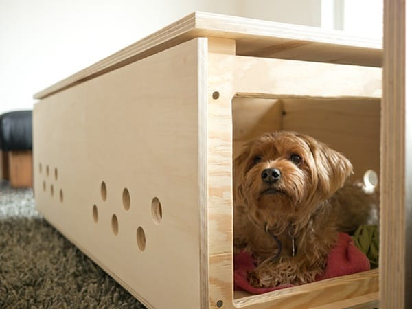 40 Comfy Large Dog Crate Ideas 6