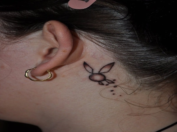 40 Cute and Small Rabbit Tattoo Pictures 15