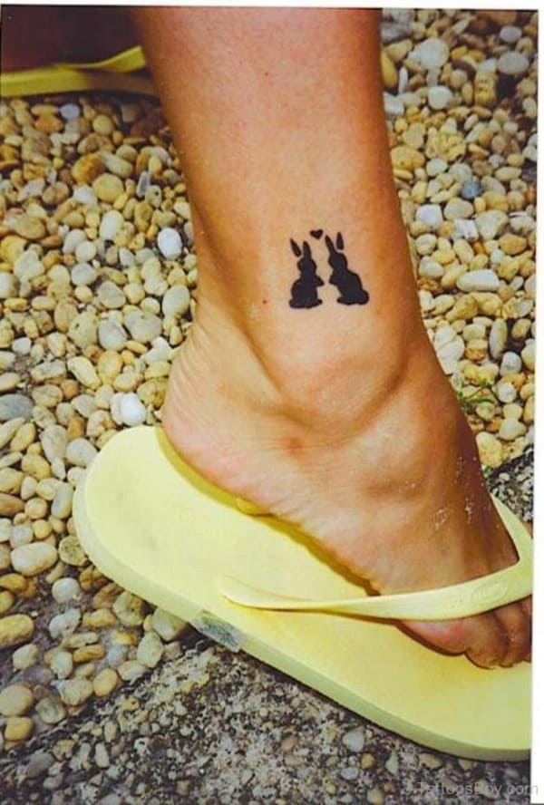 40 Cute and Small Rabbit Tattoo Pictures 19