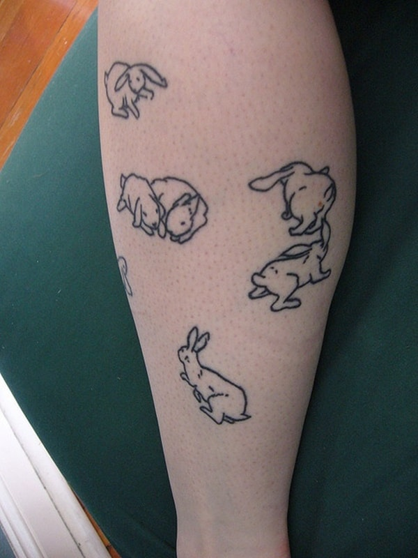 40 Cute and Small Rabbit Tattoo Pictures 26