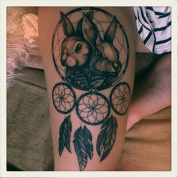 40 Cute and Small Rabbit Tattoo Pictures 4