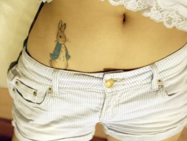 40 Cute and Small Rabbit Tattoo Pictures 9