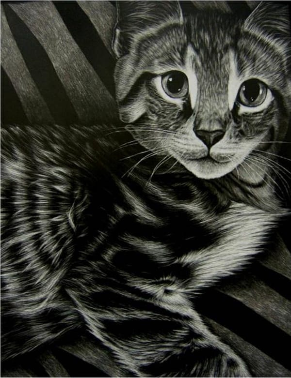 40 Great Examples of Cute and Majestic Cat Drawings 30