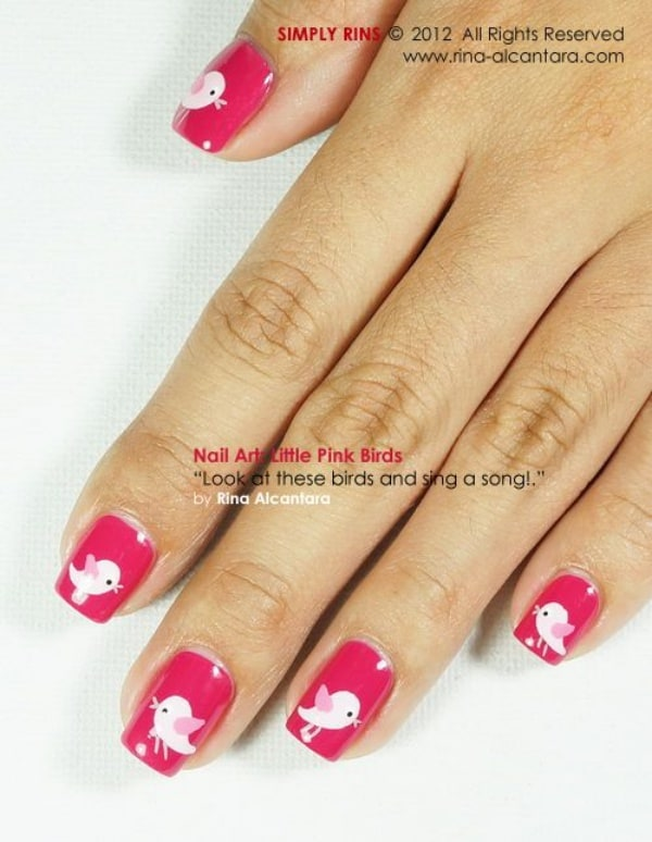 Amusing-And-Cute-Love-Birds-Nail-Art-Designs