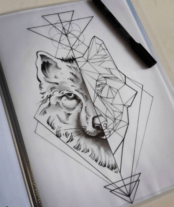 Geometric Animals Tattoos